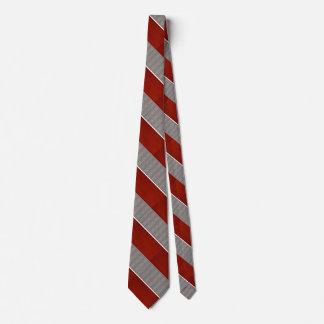 Corbata roja y gris 2 del modelo rayado