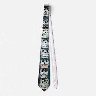 Corbata Sugar Skull diseño White