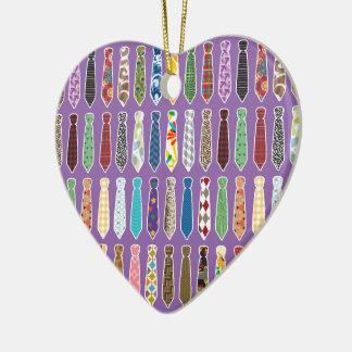 Corbatas Adorno Navideño De Cerámica En Forma De Corazón