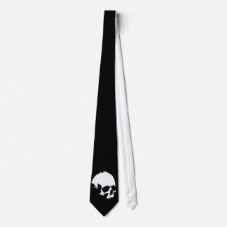 Corbatas negras y blancas del cráneo corbata personalizada