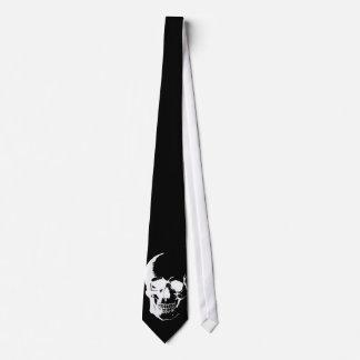 Corbatas negras y blancas del cráneo corbatas personalizadas