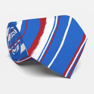 Corbatas rayadas Painterly Corbata Personalizada