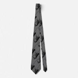 Corbatería negra del halcón corbata personalizada