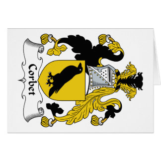 Corbet Family Crest Card