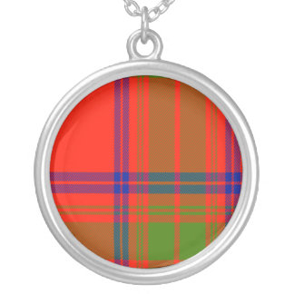 Corbet Scottish Tartan Silver Plated Necklace