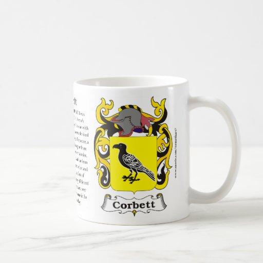 Corbett, origen, significado y el escudo taza