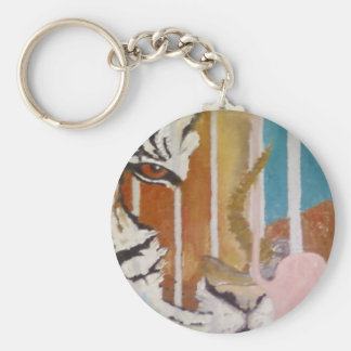 CORBETT, THE TIGER, FUNDRAISER FOR A NEW ENCLOSURE BASIC ROUND BUTTON KEYCHAIN