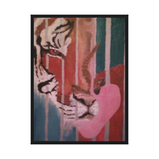 CORBETT, THE TIGER, NEEDS A NEW HOME STRETCHED CANVAS PRINTS