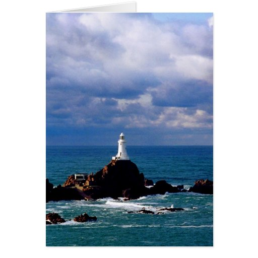 CORBIERE LIGHTHOUSE AT HIGH TIDE CARDS