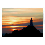 Corbiere lighthouse at sunset card