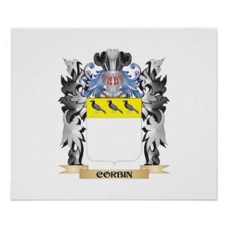 Corbin Coat of Arms - Family Crest Poster