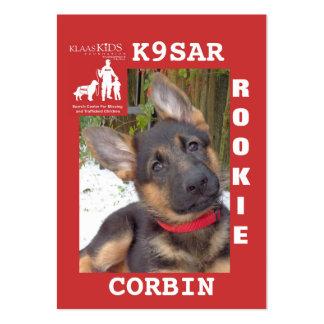 CORBIN Rookie Card Business Card