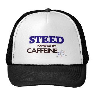 Corcel accionado por el cafeína gorros