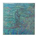 Corcel del jade azulejo