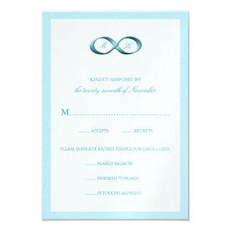 Corchete azul de la mano del infinito de la invitaciones personalizada