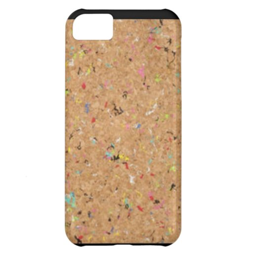 Corcho del confeti del arco iris carcasa para iPhone 5C