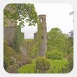 Corcho, Irlanda. El castillo infame 2 de la lisonj Calcomanía Cuadradase