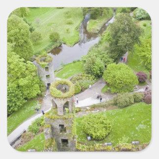 Corcho, Irlanda. El castillo infame de la lisonja Pegatina Cuadrada