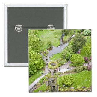 Corcho, Irlanda. El castillo infame de la lisonja Pin Cuadrada 5 Cm