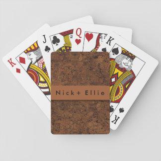 Corcho oscuro fotorrealista personalizado cartas de juego