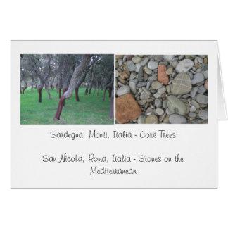 Corcho y piedras - Italia Tarjeta Pequeña