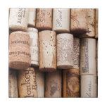 Corchos de la botella de vino azulejo ceramica
