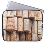 Corchos de la botella de vino funda ordendadores