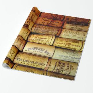 Corchos del vino a montones papel de regalo
