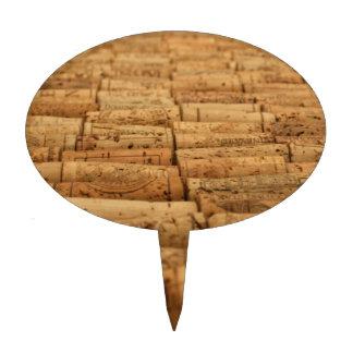 Corchos del vino decoración de tarta
