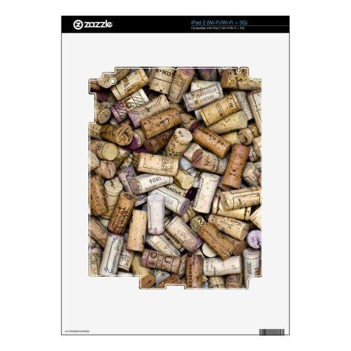 Corchos del vino fino iPad 2 skins
