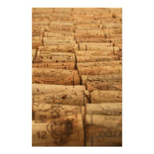 Corchos del vino papeleria