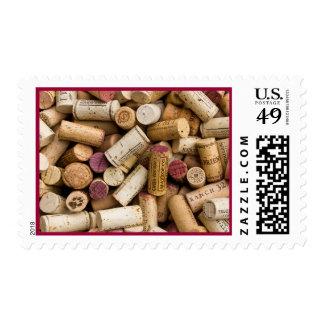 Corchos del vino franqueo