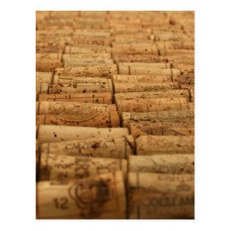 Corchos del vino postales