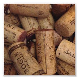 corchos del vino y del chamán impresion fotografica