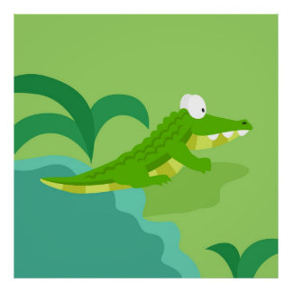 Corcodile from my world animals serie poster
