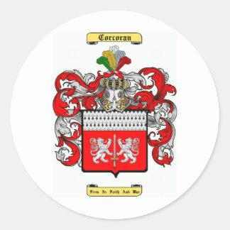 corcoran classic round sticker