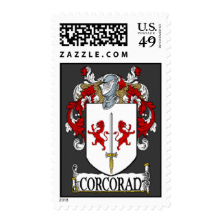 Corcoran Coat of Arms Postage Stamps
