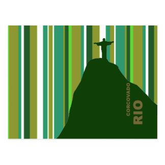 Corcovado Christ Rio Brasil Postcard