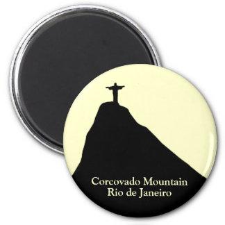 Corcovado mountain . Rio de Janeiro 2 Inch Round Magnet
