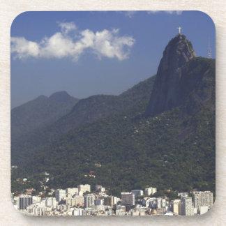 Corcovado overlooking Rio de Janeiro, Brazil Beverage Coaster