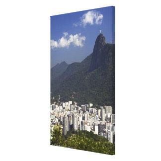 Corcovado overlooking Rio de Janeiro, Brazil Canvas Print