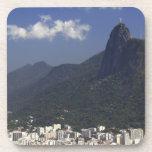 Corcovado overlooking Rio de Janeiro, Brazil Drink Coaster