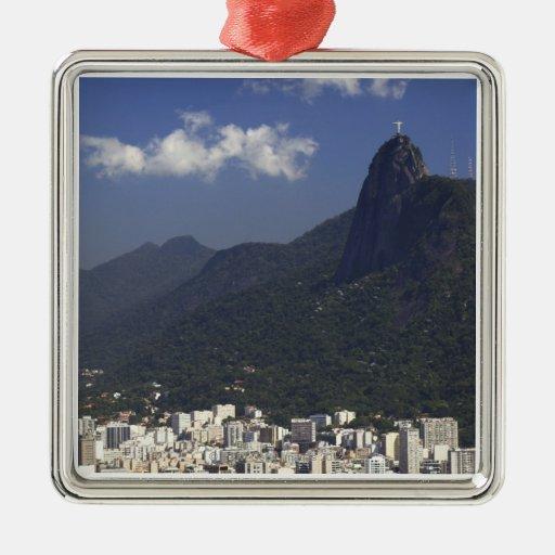 Corcovado overlooking Rio de Janeiro, Brazil Christmas Ornaments