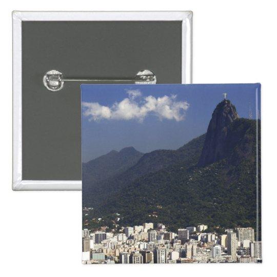Corcovado overlooking Rio de Janeiro, Brazil Pinback Button