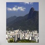 Corcovado overlooking Rio de Janeiro, Brazil Print