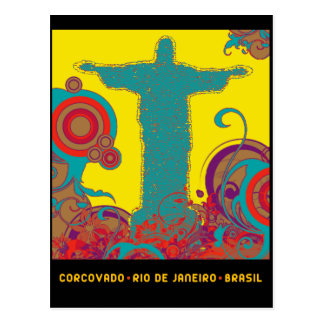 Corcovado Pop Style Post Card