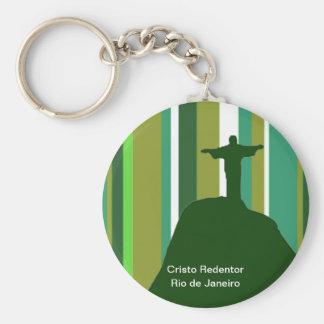 Corcovado, Rio - Brasil Keychain