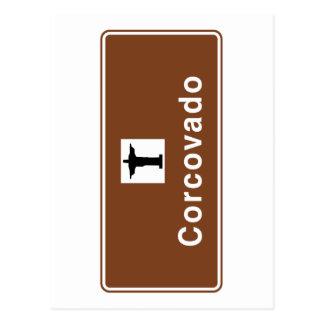 Corcovado, Rio de Janeiro, Brazil Traffic Sign Postcard