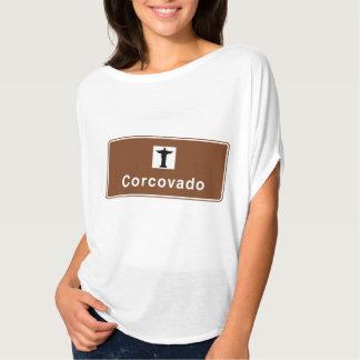Corcovado, Rio de Janeiro, Brazil Traffic Sign T-Shirt