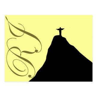 Corcovado - RJ - Brasil Postcard